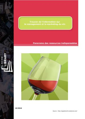 Trouver de l'information sur le management et le marketing du vin
