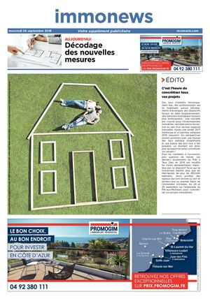 0926 Immonews Septembre 2018 Hd Journal