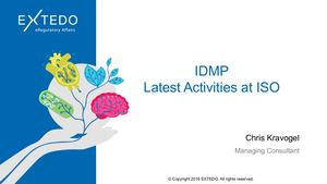 Latest Activities at ISO to Support IDMP Implementation