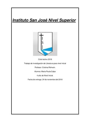 Instituto San José Nivel Superior Colpo