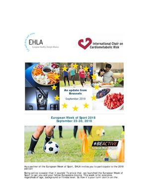 EHLA NEWSLETTER-An Update From Brussels September 2018