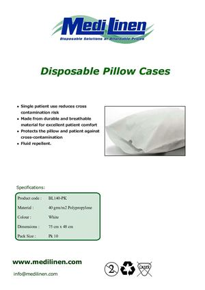 Medi Linen Disposable Linen Pillow Case