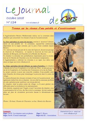 JOURNAL DE CERS - Octobre 2018