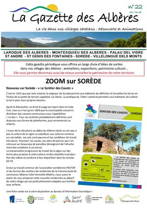 Gazette No 22 Oct Nov 2018 Zoom Sorède