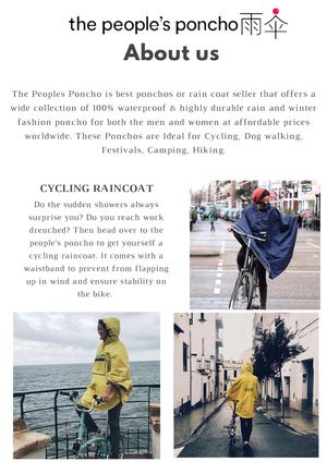 waterproof and fashionable luxury poncho from The People's Poncho
