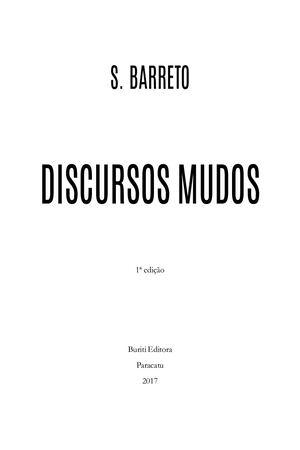 60d731367a Calaméo - Discursos Mudos - Saulo Barreto Lima