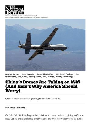 TNI - China's Drones Are Taking On Isis (And Here's Why America Should Worry)