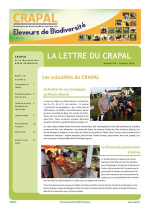 Lettre Crapal Oct 2018