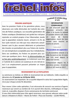 Journal municipal Fréhel.info du 12 Octobre 2018