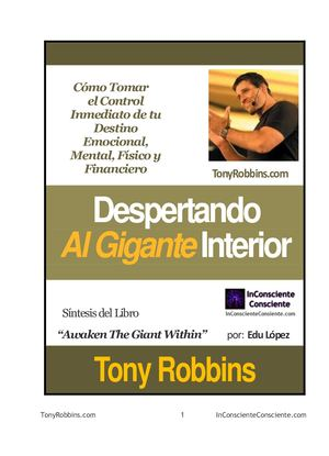 Tony Robbins Despertando Al Gigante Interior Resumen