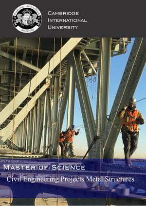 Master in Civil Engineering Projects and Metal Structures