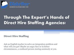 The Expert's Hands of Direct Hire Staffing Agencies