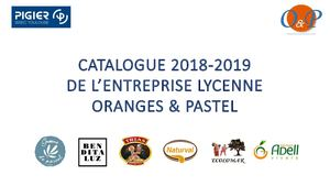 Catalogue Oranges & Pastel 2018 2019
