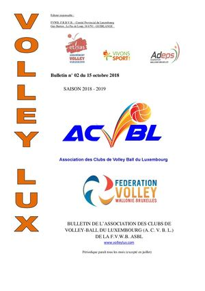 Volley Lux N 02 Du 15 10 2018