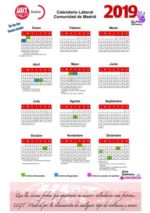 Calendario Laboral Comunidad De Madrid.Calameo Calendario Laboral 2019 Comunidad De Madrid