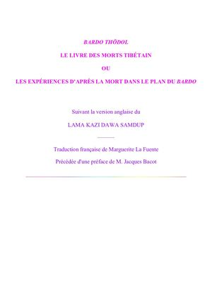 the best attitude 38567 ca1cf Bardo Thodol Le Livre Des Morts Tibetain
