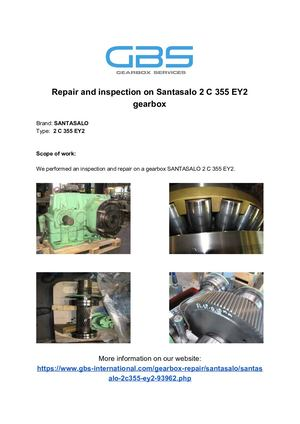 Repair And Inspection On Santasalo 2 C 355 EY2 Gearbox