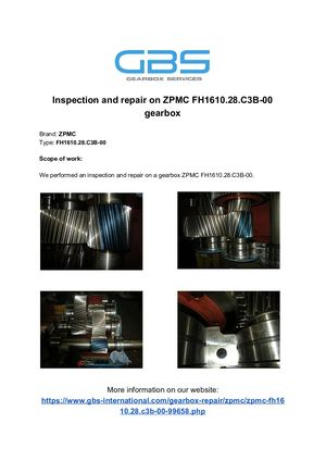 Inspection And Repair On ZPMC FH1610 28 C3B 00 Gearbox