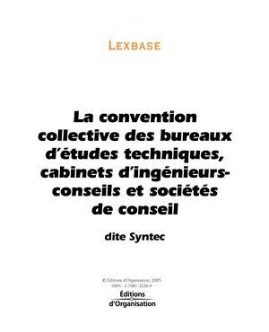 Calameo La Convention Collective Syntec Chap1 Lexbase Pdf
