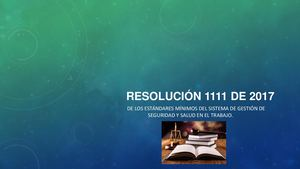 Cartilla Resolución 1111 De 2017