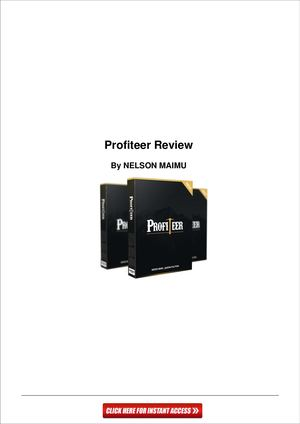 Profiteer Review And Bonus-How they Make $150 Per Day...