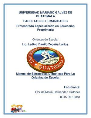 Calaméo Manual De Estrategias Didácticas Orientación Escolar