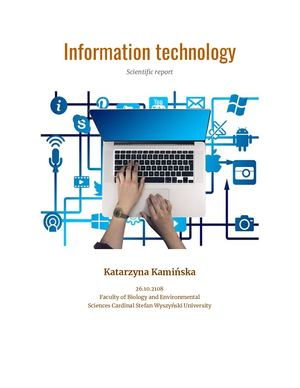 Scientific report-Information technology