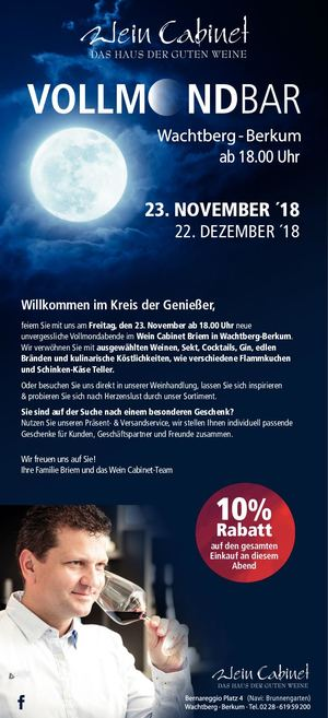 Newsletter Vollmond November Kreis Geniesser