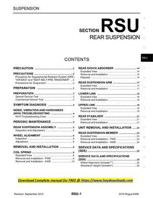 nissan rogue full service repair manual 2014 2015