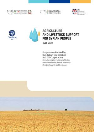 Agriculture and Livestock support for Syrian people - Infographic