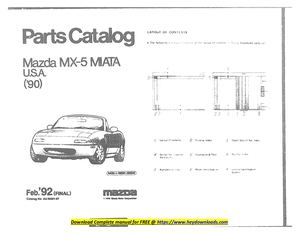 Calameo Mazda Mx 5 Miata Parts Manual 1990 Free Pdf Download