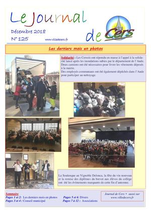 JOURNAL DE CERS - DECEMBRE 2018
