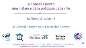 Referentielconseilcitoyen Cahier3 Conseils Conseillers Citoyens