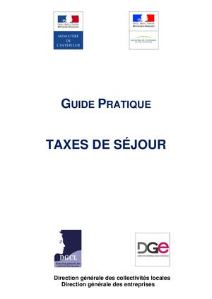 Guide Pratique V4 Taxes De Sejour Version Finale