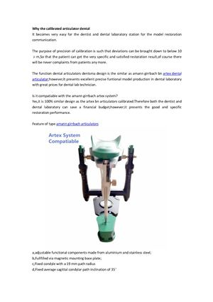 Artex Facebow Articulator Dental calibrated