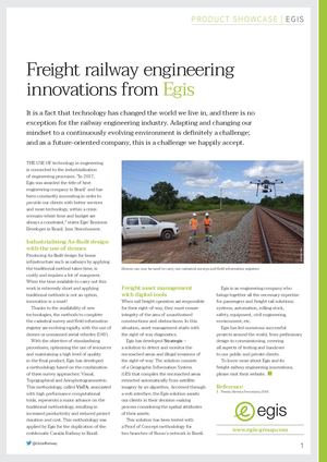 Freight railway engineering innovations from Egis