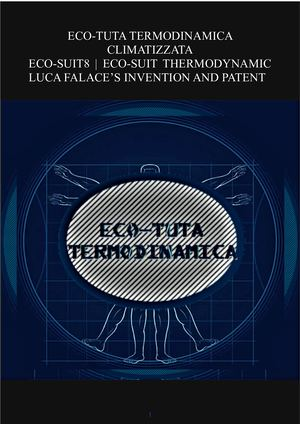 ECO-SUIT THERMODYNAMIC LUCA FALACE'S INVENTION AND PATENT 2019