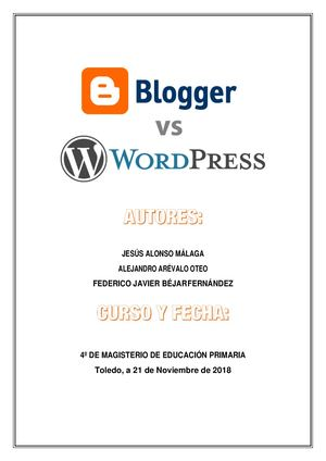 Grupo 10 Blogger Y Wordpress