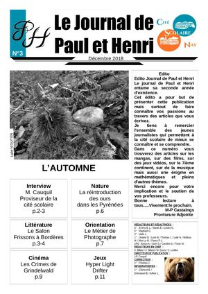 Journal de Paul et Henri n°3