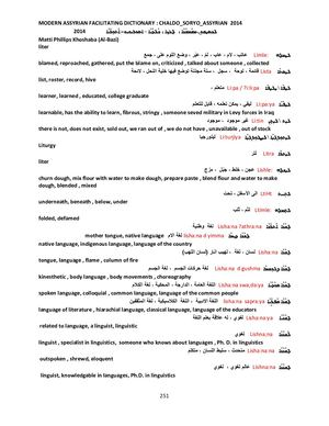 Calameo Modern Assyrian Catalyst Dictionary P2