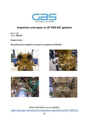 Inspection And Repair On ZF RSD 601 Gearbox