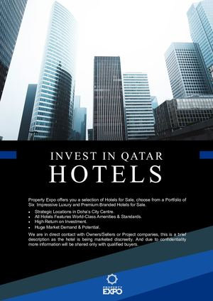 Calaméo - Hotels for Sales Proposal - Doha, Qatar | Property Expo