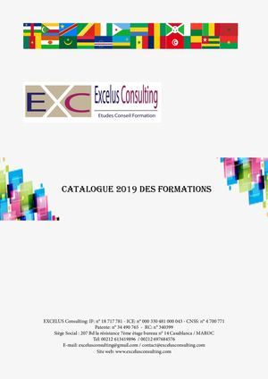 Catalogue Excelus 2019