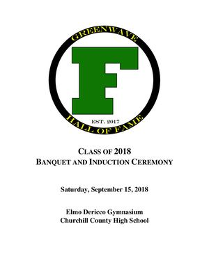 2018 Induction Program