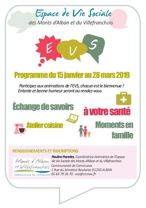 Flyer Animations EVS 1er trimestre 2019