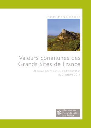Valeurs Communes Des Grands Sites De France