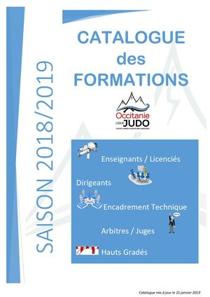 Catalogue De Formation 2018 2019 Ligue Occitanie  Maj 9 nov 18