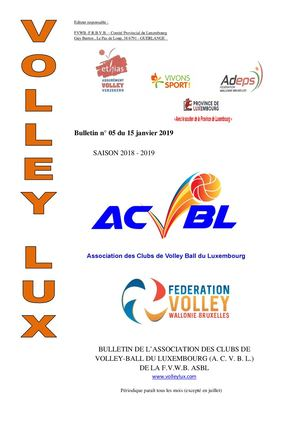 Volley Lux N° 05 Du 15 01 2019