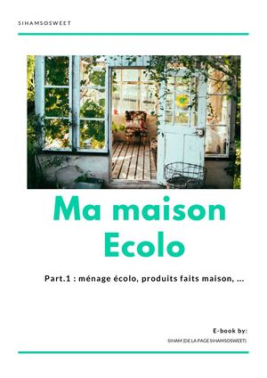 E Book Ma Maison Écolo Part 1
