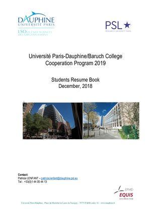 Calaméo Dauphine Book Of Resume 2019